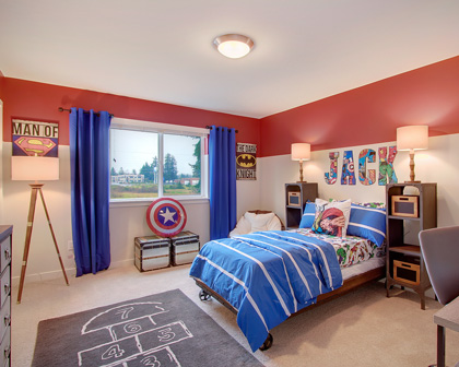 Kids Room Interior comic book theme by Claffey's Painting
